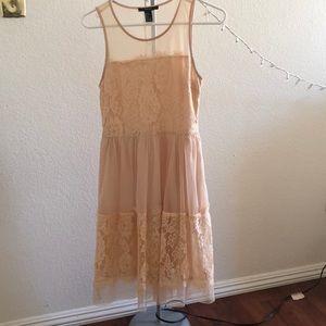Peach pink Lace Dress